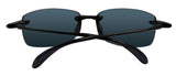 Costa Del Mar Ballast Shiny Black Frame Blue Mirror 580P Plastic Polarized Lens