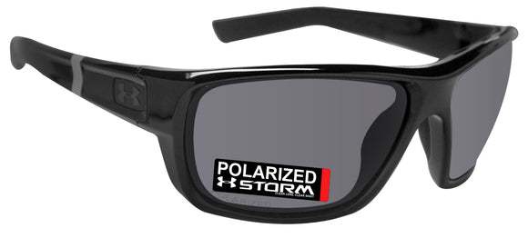 Under Armour 8630098-000108 launch shiny black frame gray storm polarized lens