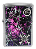 Zippo 29591 Moon Shine Camo Muddy Girl Street Chrome Finish Windproof Lighter