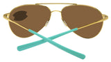 Costa Del Mar Piper Shiny Gold Frame Green Mirror 580G Glass Polarized Lens