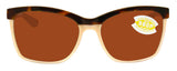 Costa Del Mar Anaa Retro Tort Cream Frame Copper 580P Plastic Polarized Lens