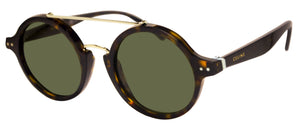 Celine 41436/S-086-1E brown havana tortoise frame green 47mm lens sunglasses