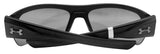 Under Armour 8600085-000100 big shot shiny black rubber frame gray lens new