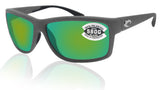 Costa Del Mar Mag Bay Matte Gray Frame Green Mirror 580G Glass Polarized Lens