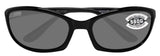 Costa Del Mar Harpoon Shiny Black Frame Gray 580G Glass Polarized Lens