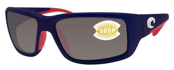 Costa Del Mar Fantail USA Blue Frame Gray 580P Plastic Polarized Lens