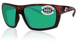 Costa Del Mar Hamlin Tortoise Frame Green Mirror 580G Glass Polarized Lens