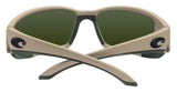 Costa Del Mar Blackfin Matte Sand Blue Mirror 580P Plastic Polarized Lens New