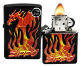 Zippo 29735 Flaming 3D Dragon Black Matte Finish Windproof Pocket Lighter New