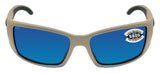 Costa Del Mar Blackfin Matte Sand Blue Mirror 580G Glass Polarized Lens New