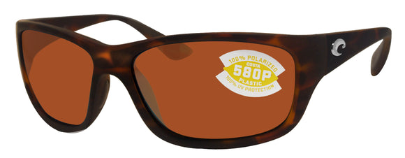 Costa Del Mar Tasman Sea Retro Tortoise Frame Copper 580P Plastic Polarized Lens