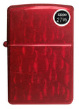 Zippo Lighter 29824 Flames Candy Apple Red Iced Finish Windproof New