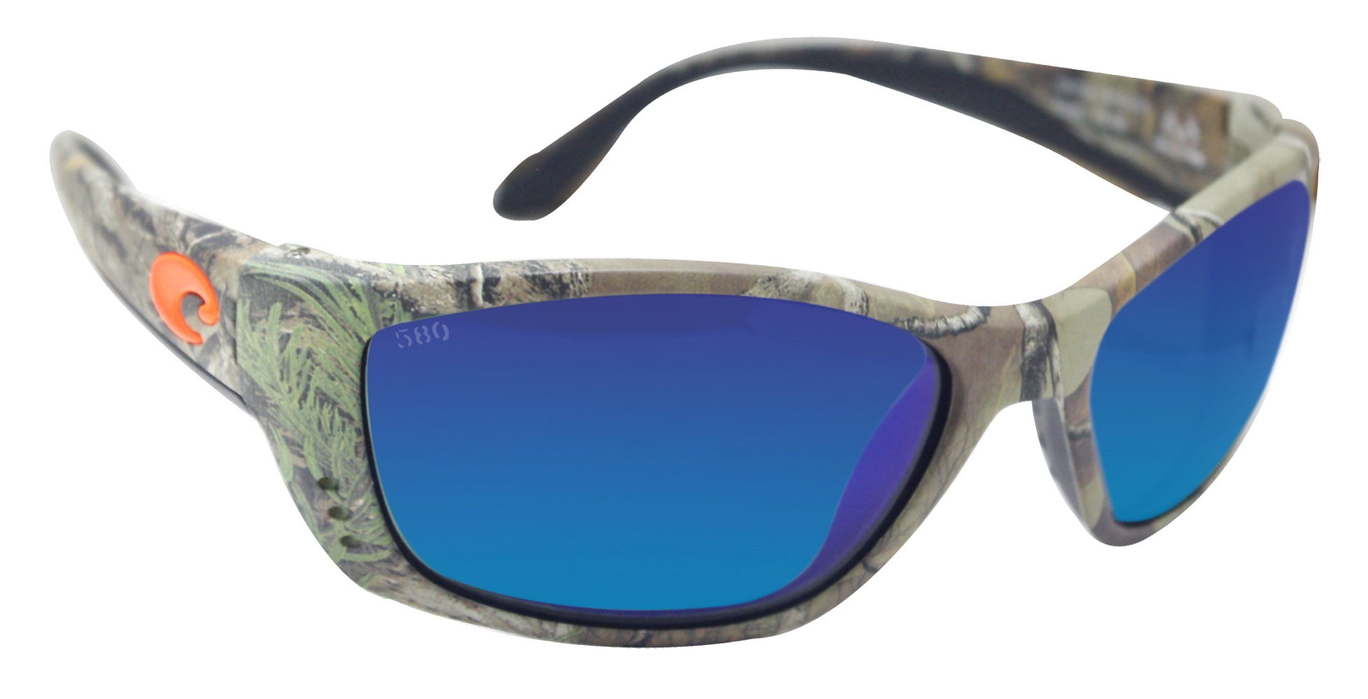 bdd5b5e5fb3 Costa Del Mar Fisch Realtree Camo Frame Blue Mirror 580G Glass Polarized  Lens ...