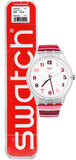 Swatch SUOK138 Tramonto Occaso White Dial Red Shades Silicone Band Watch New