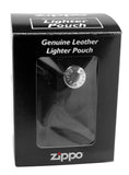 Zippo 29432 Brushed Chrome Lighter + LPTBK Black Leather Pouch Clip
