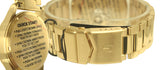 Nixon A3561919 Sentry SS Green Sunray Day Date Dial Gold Steel Bracelet Watch