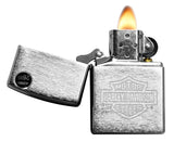 Zippo Lighter 200HD.H199 Harley Davidson Brushed Chrome Windproof NEW
