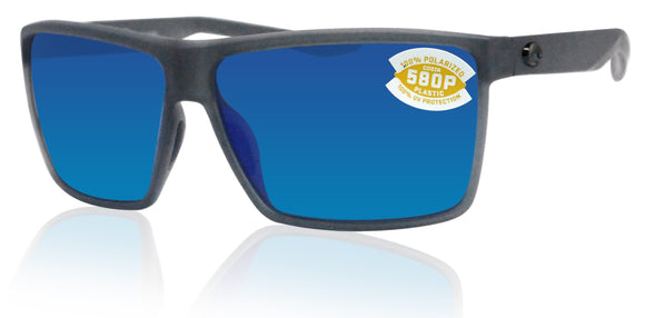 Costa Del Mar Rincon Smoke Crystal Frame Blue Mirror 580P Plastic Polarized Lens