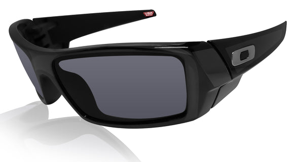 Oakley Gascan Polished Black Frame Grey Authentic Sunglasses 0OO9014