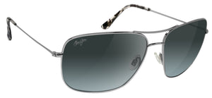 Maui Jim Cook Pines Silver Metal frame  Neutral Grey Polarized Lens GS774-17 new