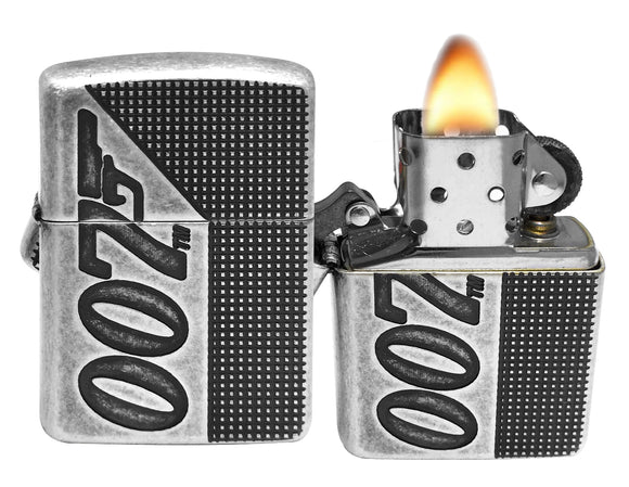 Zippo 49033 James Bond 007 Antique Silver Plate Lighter New in Box