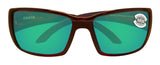 Costa Del Mar Blackfin Tortoise Frame Green Mirror 580G Glass Polarized Lens