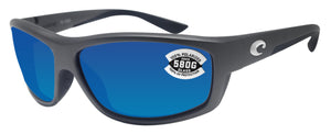 Costa Del Mar Saltbreak Steel Gray Frame Blue Mirror 580G Glass Polarized Lens
