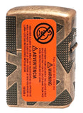 Zippo 49036 Antique Copper Armor Geometric 360 Design Lighter New in Box