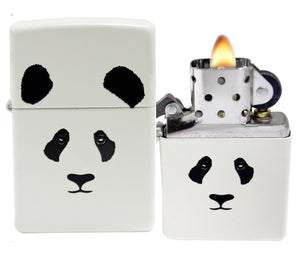 Zippo 28860 Giant Panda Bear White Matte Lighter