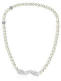 Swarovski nice necklace white rhodium plated NIB 5493403