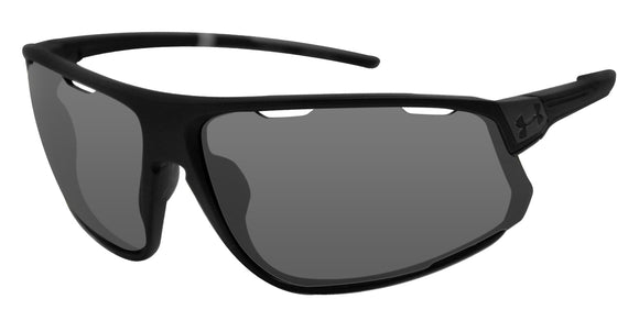 Under Armour 8600108-010600 strive satin black frame gray lens sunglasses new