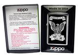 Zippo 28290 Eagle Right To Bear Arms HP Chrome Windproof Classic Lighter