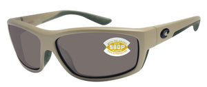 Costa Del Mar Saltbreak Matte Sand Frame Gray 580 Plastic Polarized Lens