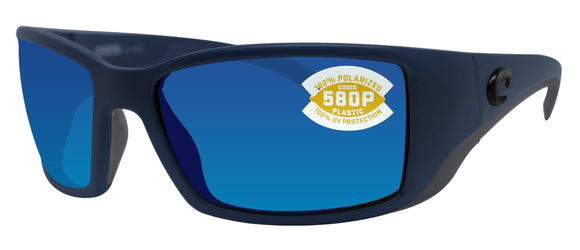 Costa Del Mar Blackfin Midnight Frame Blue Mirror 580 Plastic Polarized Lens