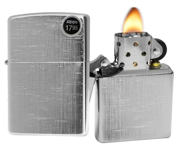 Zippo 28181 Lined Weave Satin Chrome General Lighter
