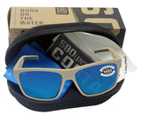 Costa Del Mar Slack Tide Mate Sand Frame Blue Mirror 580G Glass Polarized Lens
