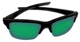 Oakley Thinlink Matte Black Frame Jade Iridium Lens Authentic Sunglasses New 93160963