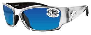 Costa Del Mar Corbina Silver Frame Blue Mirror 580G Glass Polarized Lens