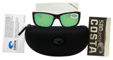 Costa Del Mar Tasman Sea Tortoise Frame Green Mirror 580G Glass Polarized Lens