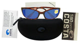 Costa Del Mar Harpoon Tortoise Frame Blue Mirror 580P Plastic Polarized Lens