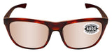 Costa Del Mar Cheeca Rose Tortoise Copper Silver Mirror 580 Glass Polarized Lens