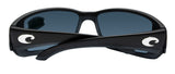 Costa Del Mar Blackfin Matte Black Frame Blue Mirror 580 Plastic Polarized Lens