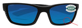 Costa Del Mar Whitetip Reader C-Mate Blackout 2.50 Blue Mirror 580P Plastic Lens