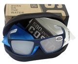 Costa Del Mar Bloke Bahama Blue Fade Gray Silver Mirror 580 Glass Polarized Lens
