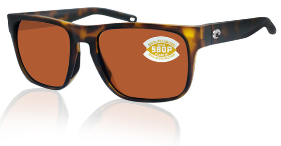 Costa Del Mar Spearo Matte Tortoise Copper 580 Plastic Polarized Lens