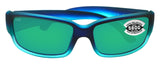 Costa Del Mar Caballito Caribbean Fade Green Mirror 580G Glass Polarized Lens
