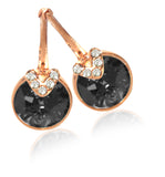 Swarovski bella v pierced earrings gray rose-gold tone plated 5299317