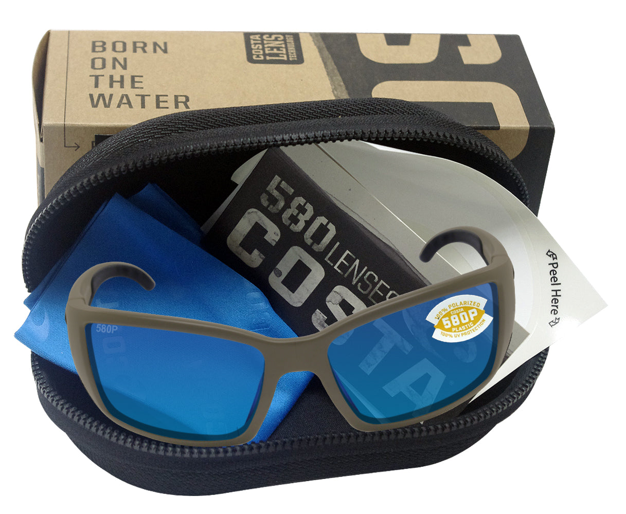Costa Del Mar Blackfin Sunglasses Moss//Blue Mirror 580Plastic