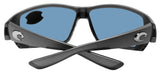 Costa Del Mar Tuna Alley Gray Metallic Blue Mirror 580G Glass Polarized Lens