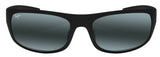 Maui Jim 440-2M Big Wave Matte Black frame Neutral Grey Polarized Lens NEW